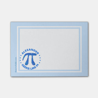 Z Blue Pi Symbol Math Geek Nerd Geeks Like Pi Post-it Notes