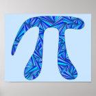 Z Blue Pi Symbol Math Geek Science Nerd Fun 11x14 Poster