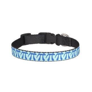 Z Blue Pi Symbol Math Geek Small Fun Pet Fashion Pet Collar