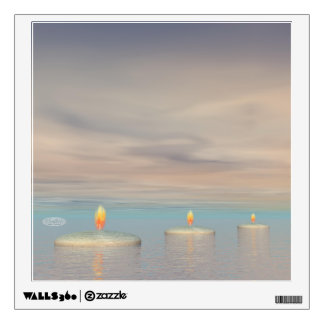 z+Candle steps - 3D render Wall Decal