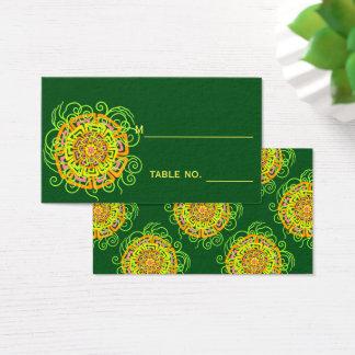Z Citrus Flower Modern Rustic Floral Business Card