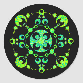 Z Cool Crop Circle Green Art Stickers