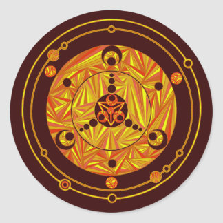 Z Crop Circle Art Sticker in Fall Colors