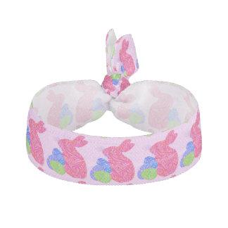 Z Cute Pink Easter Bunny Hair Tie Scrunchy Elastic