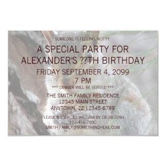 Z Cute Squirrel With Peanut Birthday Party Invite