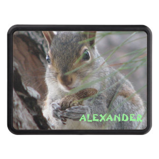 z Cute Squirrel With Peanut Personalize This Trailer Hitch Cover