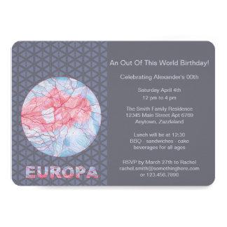 Z Europa Jupiters Moon Space Geek Colorful Card