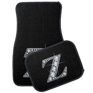 "Z Faux-""Diamond"" Monogram Floor Mat"