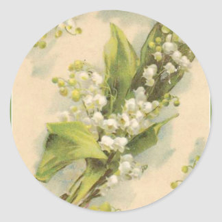 Z Flower Alphabet Lily of the Valley Classic Round Sticker