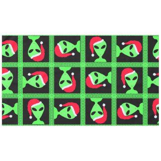 Z Fun Alien Santa Geek Humor Green And Black Fun Tablecloth