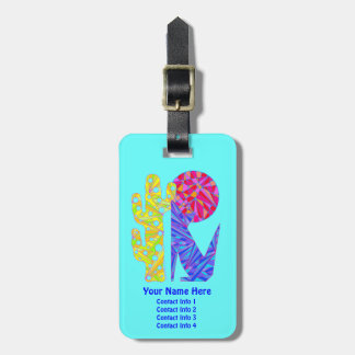 Z Fun Blue Coyote Southwestern Style Luggage Tag
