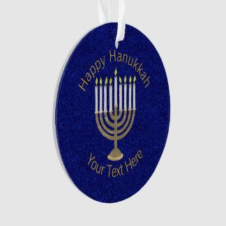 Z Hanukkah Gold Menorah Elegant Chrismukkah