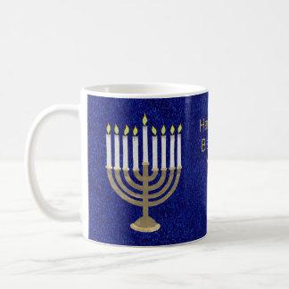 Z Hanukkah Gold Menorah Gift Or Holiday Kitchen Coffee Mug