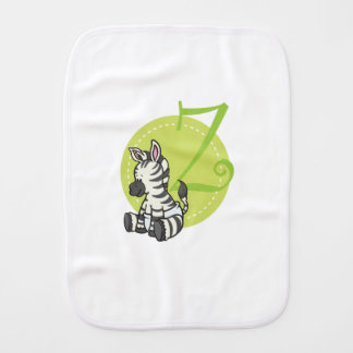Z is for Zebra Burp Cloth