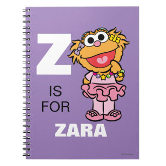 Z is for Zoe | Add Your Name Note Books