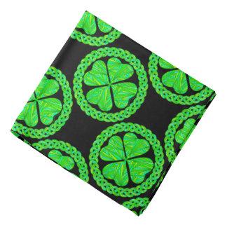 Z Lucky Celtic Shamrock Four Leaf Clover Bandana
