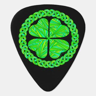 Z Lucky Celtic Shamrock Four Leaf Clover Custom Guitar Pick