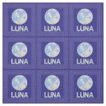 Z Luna The Full Moon Blue And Purple Space Geek Fabric