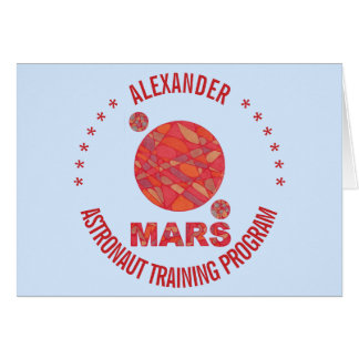Z Mars The Red Planet Space Geek Solar System Fun Card