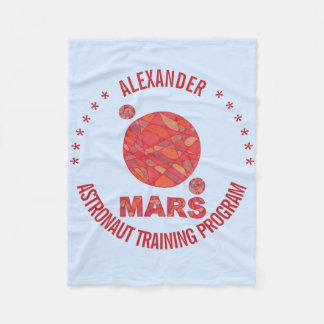 Z Mars The Red Planet Space Geek Solar System Fun Fleece Blanket