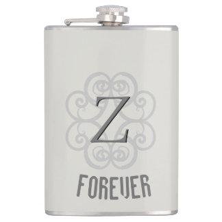 Z-Monogrammed Forever Hip Flask