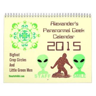 Z Paranormal Geek 2015 Bigfoot Aliens Crop Circles Calendars