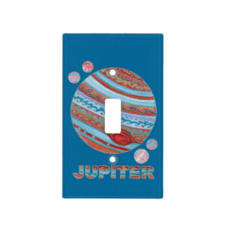 Z Planet Jupiter And Moons Kids Room Decor Light Switch Cover