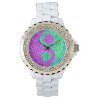 Z Purple And Green Yin And Yang Zen Fashion Watch