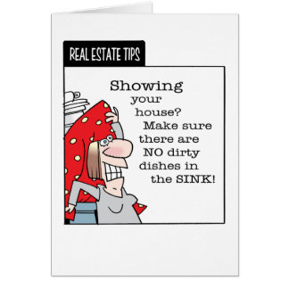 Z-Real Estate Tips Greeting Card