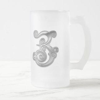 Z Roman Spiral Monogram Mug
