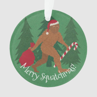 Z Santa Squatch Christmas With Your Name And Year Ornament