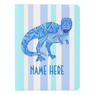 z T-Rex Dinosaur Colorful Prehistoric Stripes Extra Large Moleskine Notebook