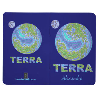 Z Terra Earth Space Geek Personalized Notebook Fun