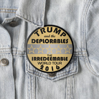 Z Trump And The Deplorables Tour Funny Political 4 Inch Round Button