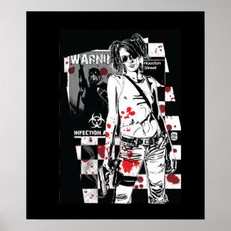 ZA Shelly: Zombie Hunter Print