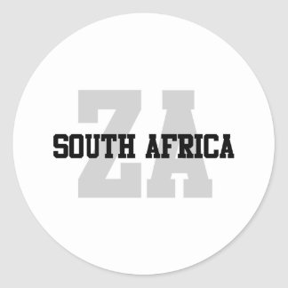 ZA South Africa Classic Round Sticker