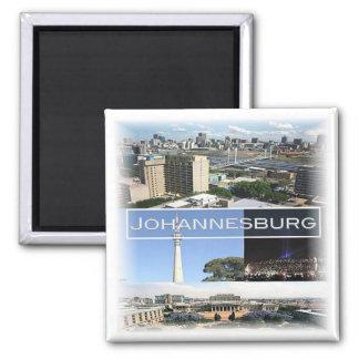 ZA * South Africa - Johannesburg Joburg Square Magnet