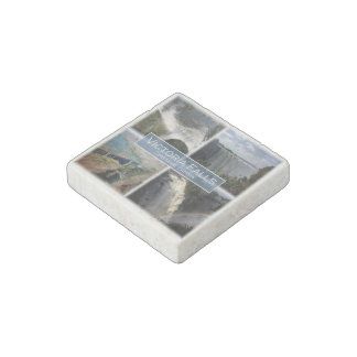 ZA Zambia - Zimbabwe - Victoria Falls - Stone Magnets