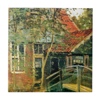 Zaandam, Little Bridge by Claude Monet Ceramic Tiles
