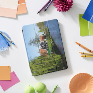 Zaanse Schans Dutch timber houses in green and red iPad Air Cover