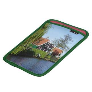 Zaanse Schans Dutch timber houses in green and red iPad Mini Sleeve