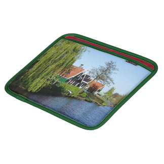 Zaanse Schans Dutch timber houses in green and red iPad Sleeve