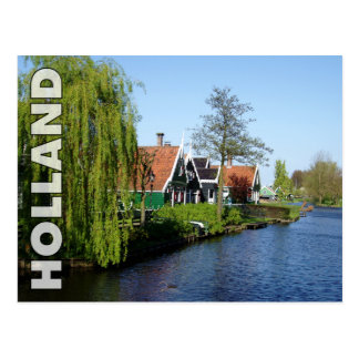 Zaanse Schans Dutch timber houses in red and white Postcard