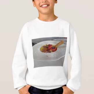 Zabaglione cream with fresh fruit and rolled wafer sweatshirt