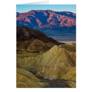 Zabriskie Colored Hills Sunrise - Death Valley Card