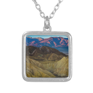 Zabriskie Colored Hills Sunrise - Death Valley Silver Plated Necklace