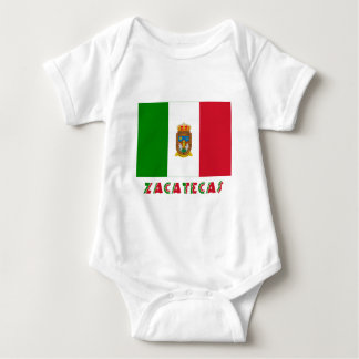 Zacatecas Unofficial Flag Baby Bodysuit