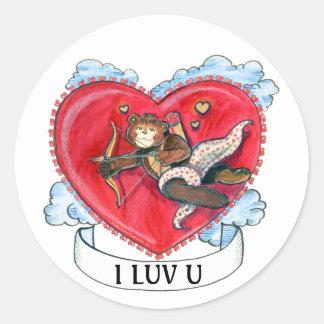 Zachary Bear Cupid Sticker