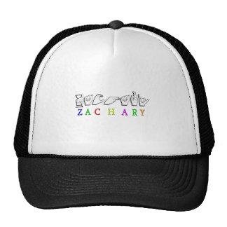 ZACHARY  FINGERSPELLED NAME TRUCKER HAT