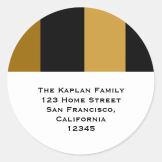 """Zachary Gold 1.5"""" Return Address Envelope Seal Round Sticker"""
